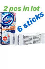 X2 Domestos Attax toilet stickers 2 packs = 6 stickers