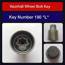"Genuine Vauxhall Locking Wheel Bolt / Nut Key 190 ""L"""