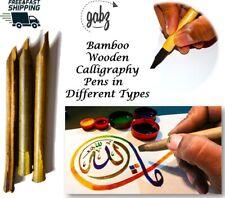 Bamboo Calligraphy Reed Qalam/Pens | Persian/Arabic Scripture Writing Set of 3/5