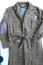 Robe Factory 100 Polyester Brown Doctor Who Logo Adult Bathrobe OSFM