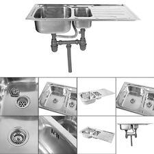 Edelstahl Küchenspüle 1.5 Waschbecken Einbauspüle Küche Spüle komplettset easy-1
