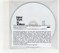 (GV353) Gil Scott-heron, New York Is Killing Me - 2010 DJ CD