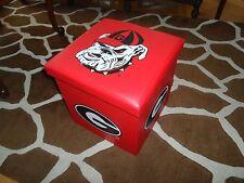 Georgia Bulldogs Folding Storage Ottoman