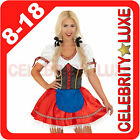 New Ladies German Heidi Beer Maid Oktoberfest Wench Fancy Dress Costume Bavarian