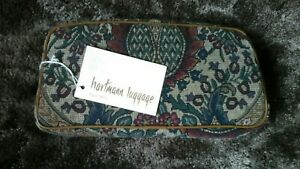 NEW Vintage Hartmann Flame Tapestry Paisley Personal cosmetic toiletry case