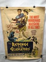 "Vintage Original 1965 Revenge of the Gladiators Movie Poster 40"" x 30"""