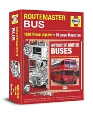 ROUTEMASTER RED BUS 1000 PIECE JIGSAW & 96 PAGE BOOK / MAGAZINE, BRITISH BUSES