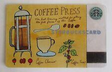 Rare Starbucks *** Coffee Press 2003 *** Gift Card & Sleeve Ltd Edition, VHTF