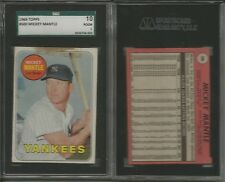 1969 Topps Baseball 405/598 cards set/lot Mickey Mantle 500 SGC High #'s HOFers