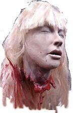 Halloween Terrifying BLONDE DEBBIE'S CUT OFF HEAD Latex Prop Haunted House NEW