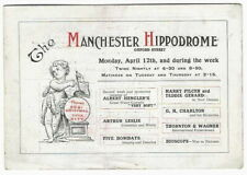 1915 Manchester Hippodrome FLYER Music Hall magician Charlton Pilcer Hengler