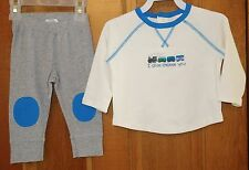 Brand New Gymboree Newborn Essentials Train Outfit Boy's 6-12M ~ Adorable