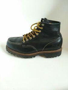 CAT Caterpillar mens Leather Boots Mens size UK8 black authentic