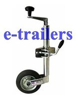 42mm JOCKEY WHEEL & CLAMP - TRAILER CARAVAN BOAT GOOD QUALITY FOR GENERAL USE