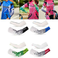 2Pcs Cooling Arm Sleeves Cover UV Sun Protection Outdoor Cycling Fishing Running