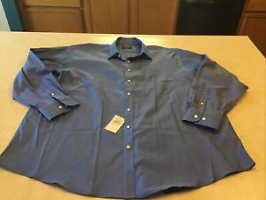Nordstrom Mens Shop Non-Iron Button Up Size 19.5/37 French Blue