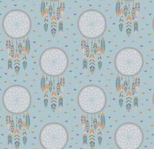 Lewis & Irene fabric - Dreamcatcher on light blue
