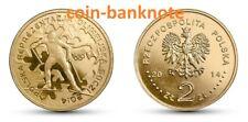 Poland Polen polish coin 2 zlote zlotys zlotych 2014 Polish Olympic Team Sochi