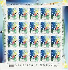 ADOPTING A CHILD STAMP SHEET -- USA #3398 33 CENT