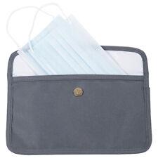 Portable mask storage bag, large capacity & antibacterial,gray