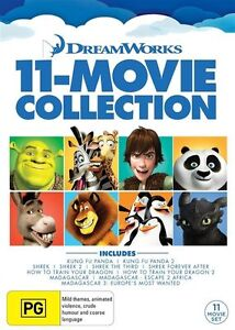Dreamworks 11 Movie Collection DVD Set - Region 4 | Madagascar + Shrek & more!