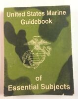 United States Marine Guidebook Of Essential Subjects, 1983
