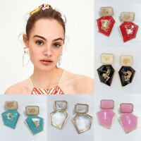 Fashion Womens Statement Ear Stud Acrylic Geometric Dangle Drop Earrings Jewelry