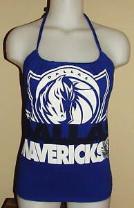 Womens Dallas Mavericks Reconstructed NBA Basketball Shirt Halter Top DiY