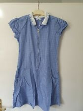 Marks & Spencer Blue & White Check School Dress Age 9-10 Years
