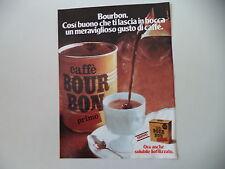 advertising Pubblicità 1977 CAFFE' BOURBON BOUR BON