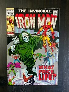 Iron Man #19 FN/VF Silver Age comic featuring Madame Masque!