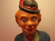 """Vintage 1968 Hobo Clown 16.5"""" Tall With Jeweled Eyes Tie And Bootonniere"""