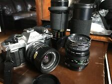 Canon AE-1 Program With 50mm Lens AND 3 LENSES