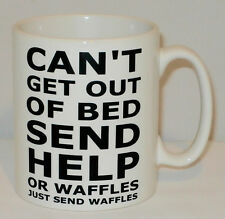 Can't Get Out Of Bed Send Waffles Mug Can Be Personalised Funny Teenager Gift