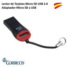 LECTOR DE TARJETAS MICRO SD USB 2.0 ADAPTADOR TARJETAS MICRO SD A USB