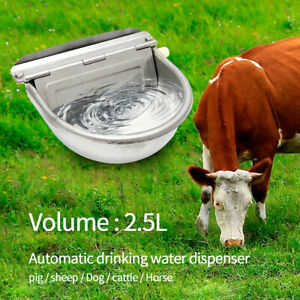Stainless Steel Automatic Water Bowl Auto Trough Horse Cow Dog Drink Goat Sheep