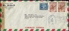 2563 El Salvador To Us Censored Air Mail Cover 1944 San Salvador - Hollywood, Ca