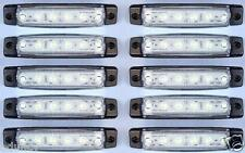 10 piezas x 12v 6 LED LUCES INTERMITENTE LATERAL BLANCO para Iveco Volvo Daf