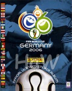 PANINI FUßBALL - WM 2006 - Deutschland - 50 Sticker aus fast allen