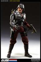 "Major Bludd Sideshow GI Joe Cobra Mercenary Sixth Scale 12"" Action Figure 1/6th"