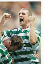 Johan mjällby Celtic Glasgow Top Photo original signed +a40783
