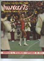 1973 Nebraska vs Wisconsin football program MBX27