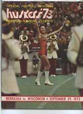 1973 Nebraska vs Wisconsin football program MBX27
