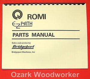 "BRIDGEPORT ROMI Ez-Path 16.5"" Metal Lathe Parts Manual 0077"