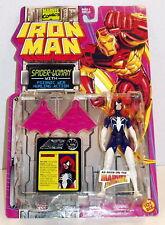 Iron Man Spider-Woman w/ Psionic Web '94 MOC Free Ship w/ Pro Packing
