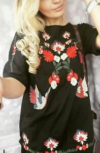 Zara Black Embroidered Short Dress Size X SMALL BNWT