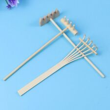 3Pcs Rakes Tool For Zen Garden Sand Bamboo Tabletop Meditation Feng Shui Decor