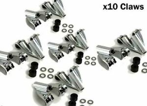 Ludwig Classic Bass Drum Claws Chrome Diecast P2308AP LOT OF 10 (P2308APx5)