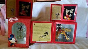 Schylling Toys Disney Wind Up 2 Dancing Mickey & Minnie, Mickey & Pluto, & Clock
