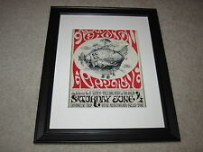 "Framed Jefferson Airplane Concert Mini Poster,1966 E Types, Penn 14""x16.5"" RARE!"